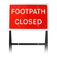 'Footpath Closed' Sign |Quick Fit (face only)