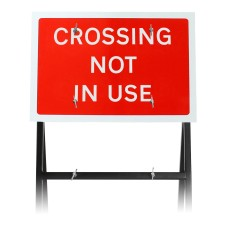 'Crossing Not In Use' Sign Diagram 7016 |Quick Fit (face only)