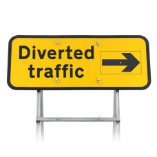 Diverted Traffic Sign With Rotating Arrow Diagram 2703 |Quick Fit (face only)