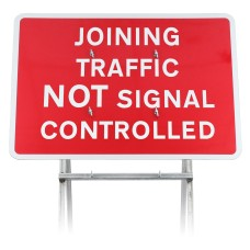 'Joining Traffic Not Signal Controlled' Sign Diagram 7022 |Quick Fit (face only)