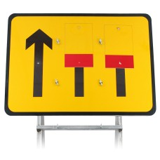 3 Lane Wicket Lane Closure Sign Diagram 7202 3mm Plastic |Quick Fit (face only)