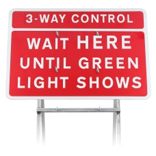 3/4 Way Control Wait Here Until Green Light Shows Sign Diagram 7011.1 | Quick Fit (face only)