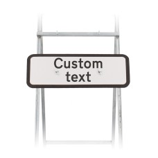 Custom Supplementary Quick Fit Sign 725x275mm - Face Only