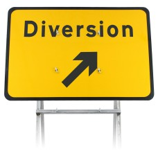Diversion Up Right Sign Diagram 2702 |Quick Fit (face only)
