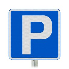 'P' Parking Symbol Sign Post Mounted  - Diagram 801 R2/RA2 (Face Only)