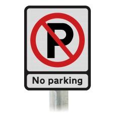 No Parking Post Mounted Car Park Sign