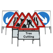 Metal Frame Tree   Hedge   Grass Cutting Sign Package