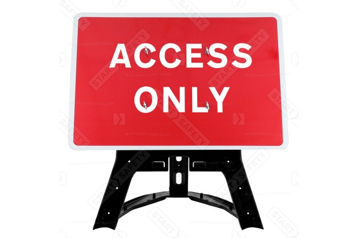 'Access Only' QuickFit EnduraSign  Inc. Stand & Face
