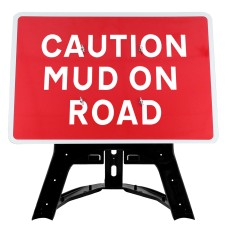 Caution Mud On Road Sign QuickFit EnduraSign | 1050x750mm