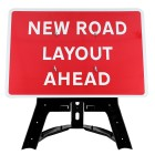 New Road Layout Ahead Sign QuickFit EnduraSign Dia 7014  1050x750mm