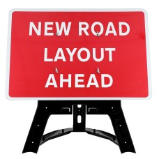 New Road Layout Ahead Sign QuickFit EnduraSign Dia 7014| 1050x750mm