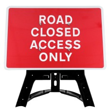 Road Closed Access Only Sign QuickFit EnduraSign | 1050x750mm