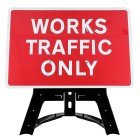 Works Traffic Only Sign QuickFit EnduraSign Dia 7301   1050x750mm