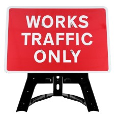 Works Traffic Only Sign QuickFit EnduraSign Dia 7301 | 1050x750mm