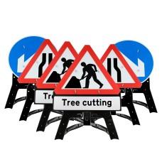 Tree Cutting Men At Work QuickFit EnduraSign Package | 750mm
