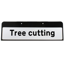 Tree cutting Sign QuickFit EnduraSign Drop Supplementary Plate Dia 7001.1 | 870x275mm (face only)