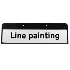 Line painting Sign QuickFit EnduraSign Drop Supplementary Plate Dia 7001.1 | 870x275mm (face only)