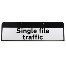 Single file traffic Sign QuickFit EnduraSign Drop Supplementary Plate Dia 518 | 870x275mm (face only)