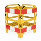 20 x Yellow 4-gate Safegate Barrier Full Pallet Package