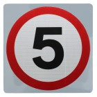 5 mph Speed Limit Sign Wall Mount - Various Sizes