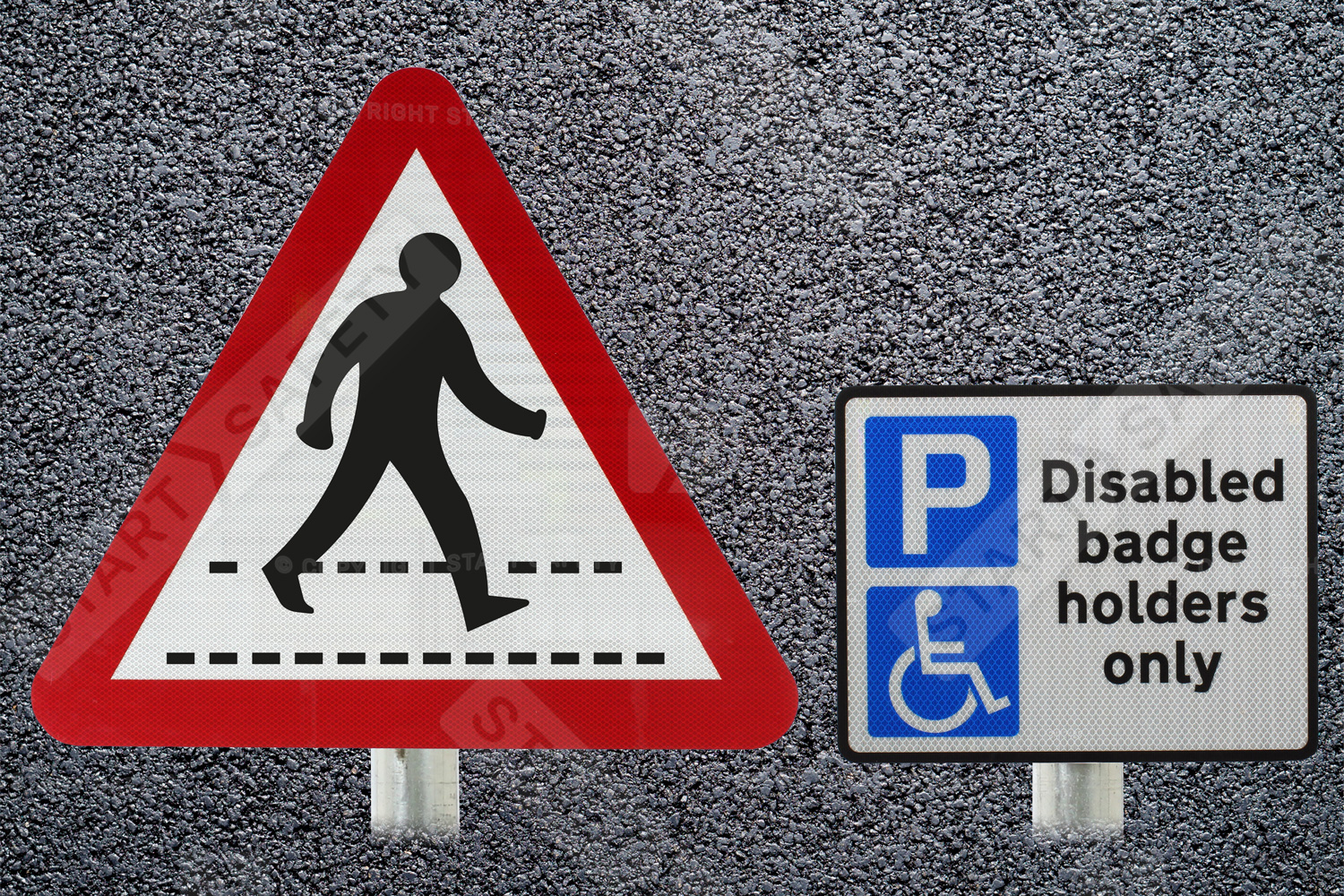 post mounted car park signs