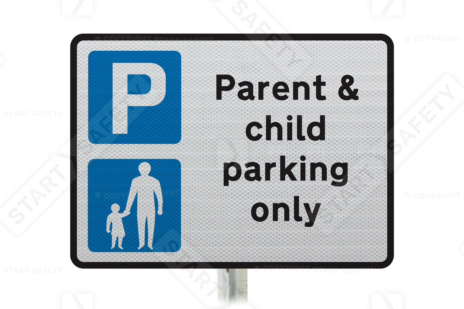 Parent and child parking only sign