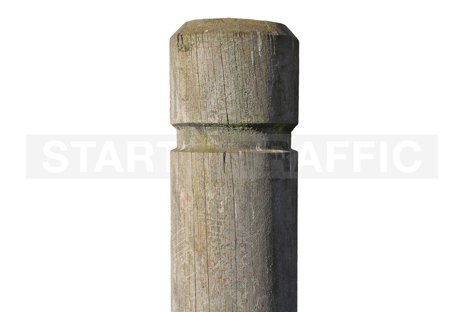 Example of aged wooden Bollard