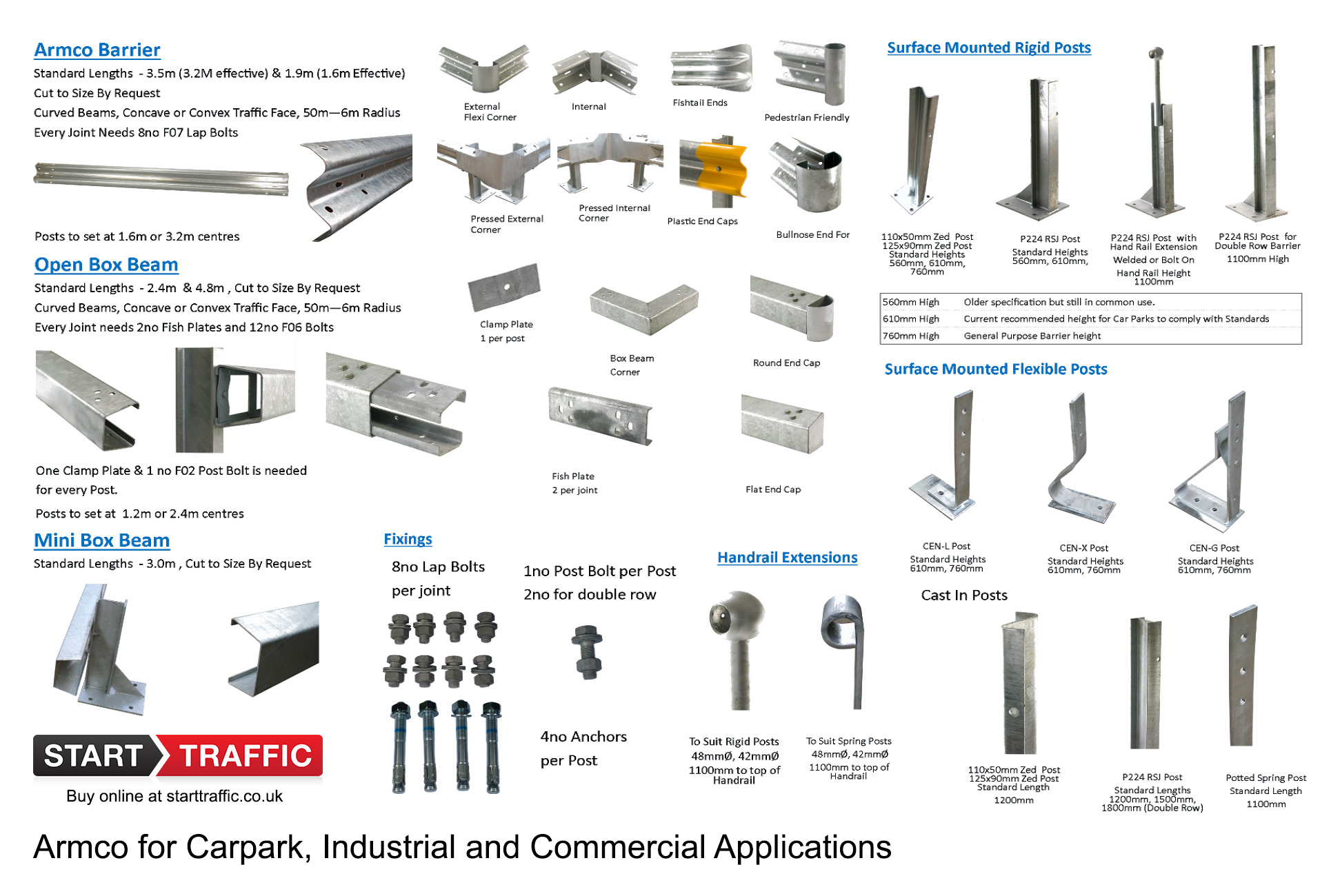 The Full Armco Range of Products