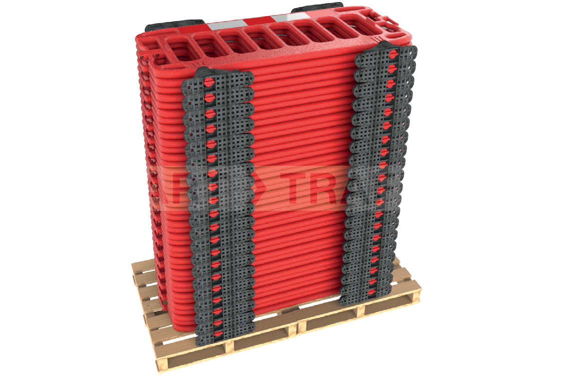 Full stack of 40 barriers fit on a pallet