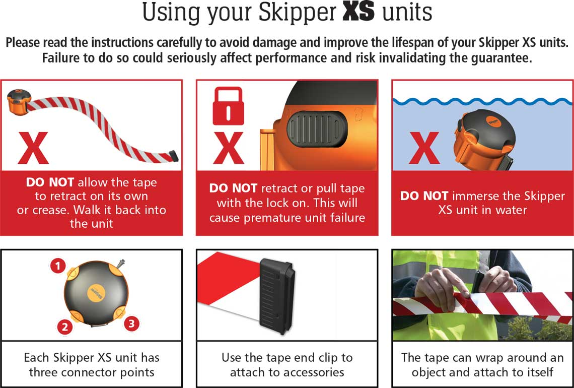 How to use the Skipper XS barrier