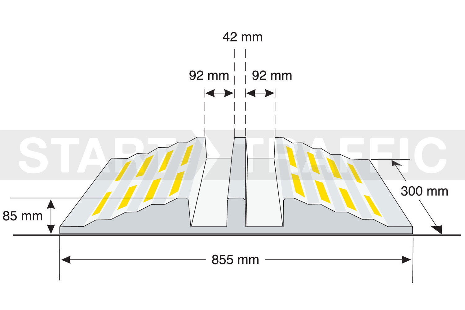 Heavy Duty Cable Ramp Dimensions