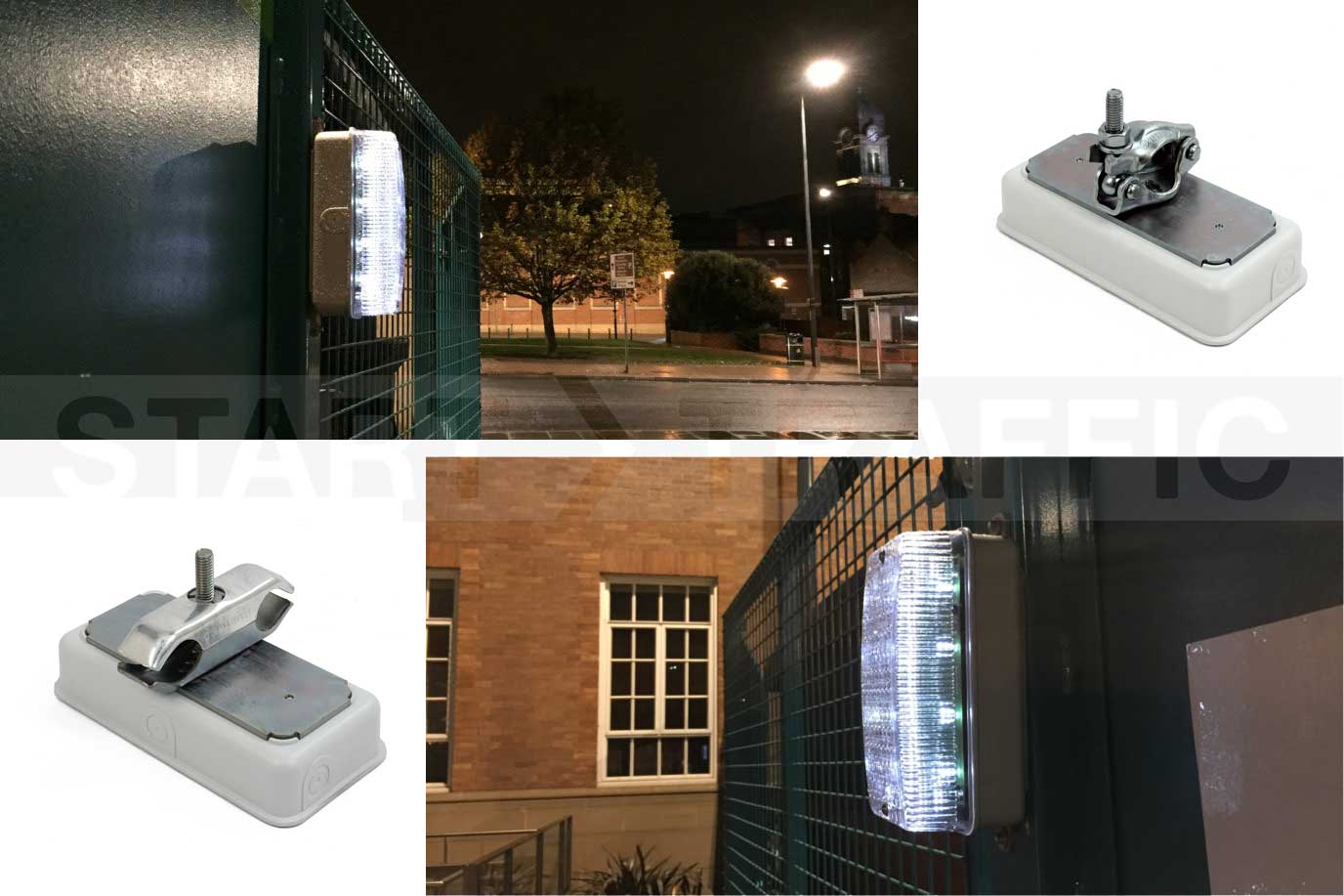 Walkway light in use with different fixing options