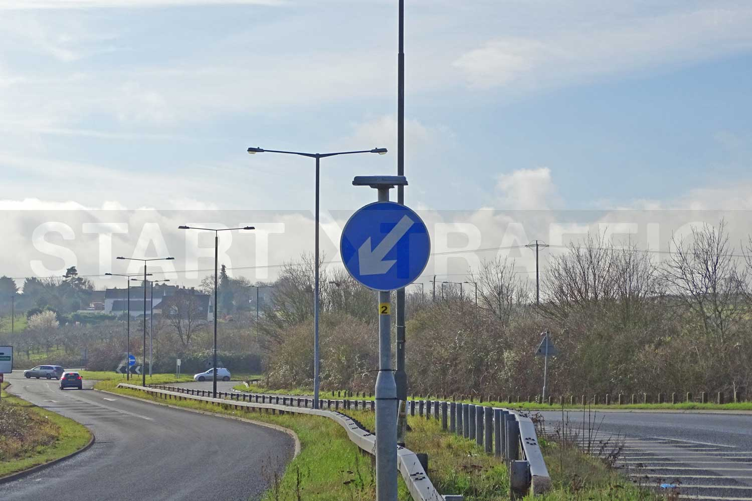 Keep Left sign installed on Duel carriageway