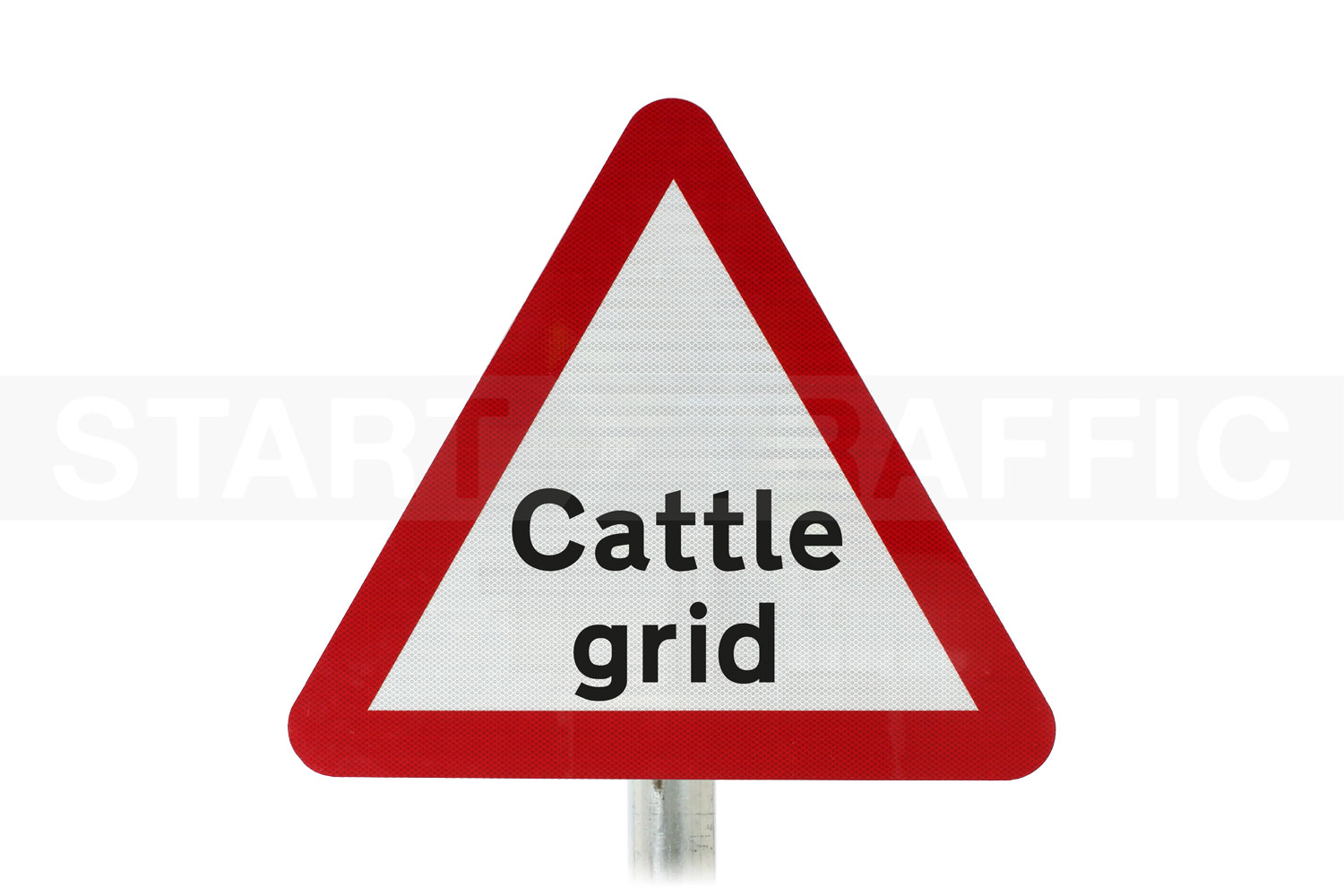 cattle grid ahead Post Mount sign