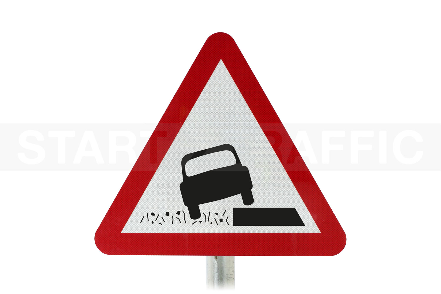 Soft Verges ahead Post Mounted sign
