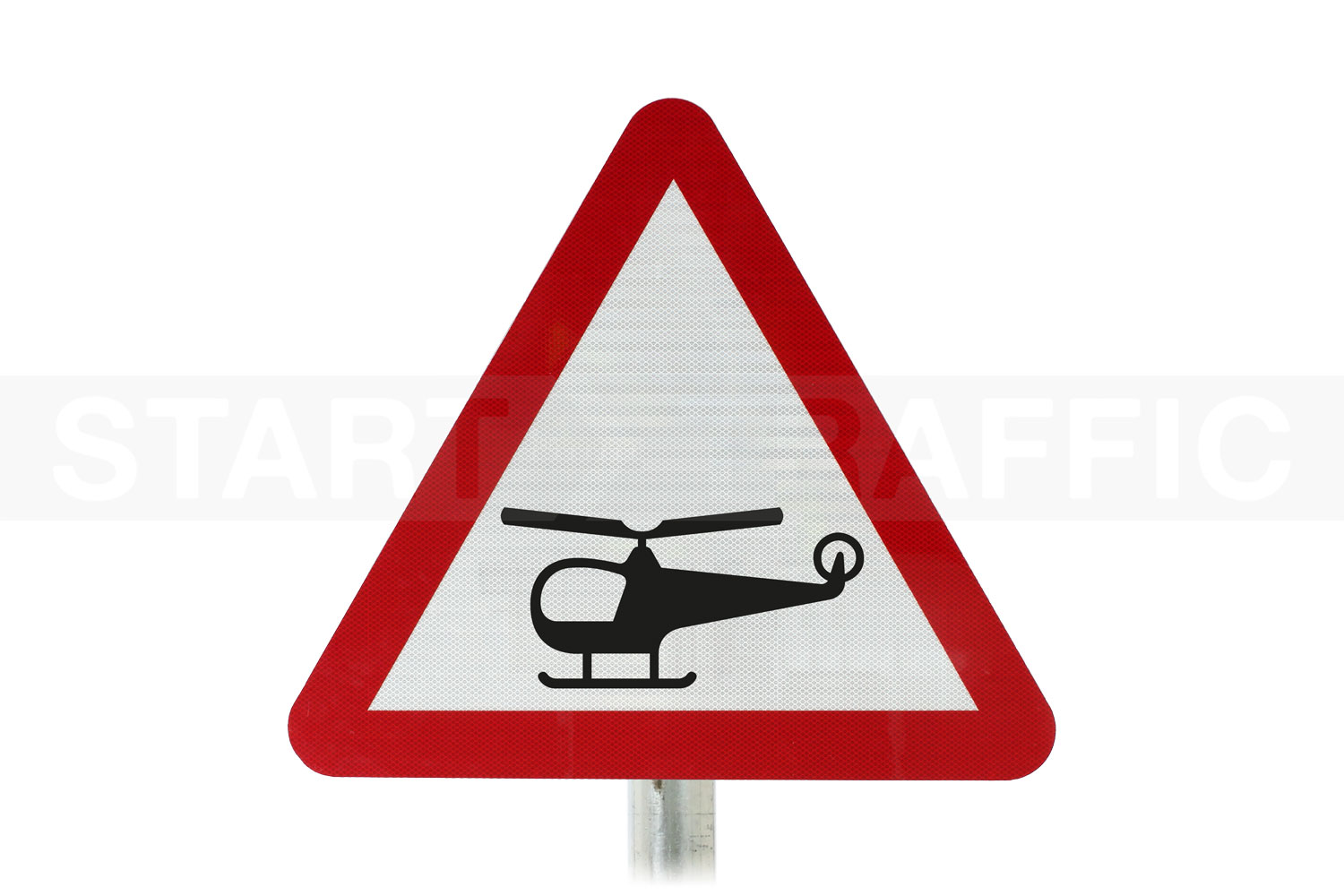 Low-Flying Helicopters Post Mounted sign
