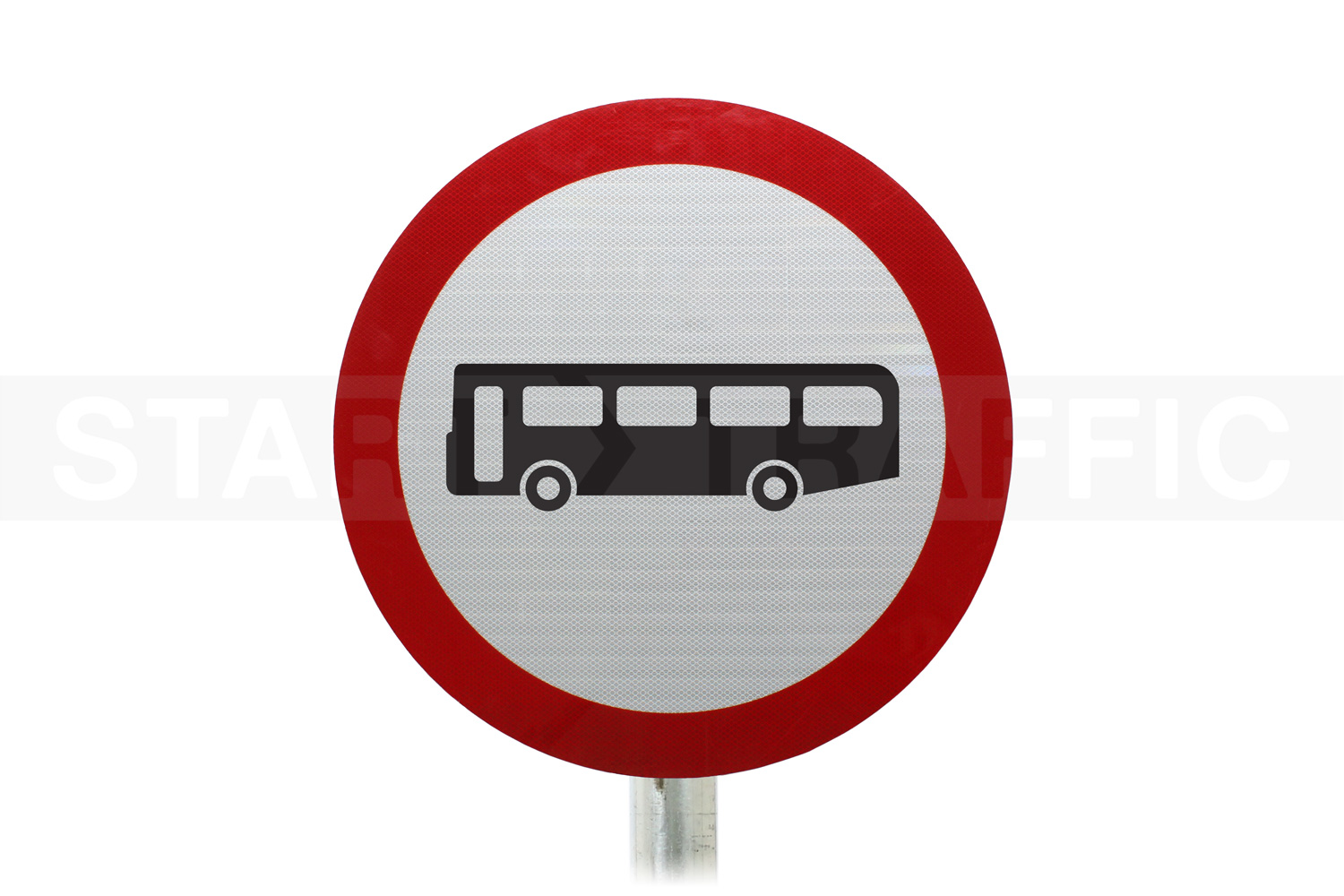 buses prohibited Ahead Post Mounted Sign