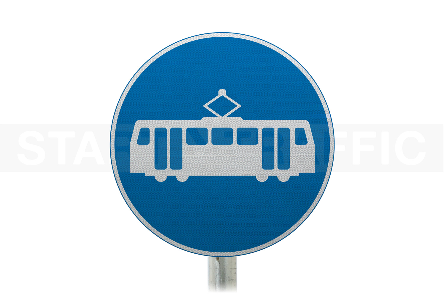 Tramcars Only Post Mounted Sign
