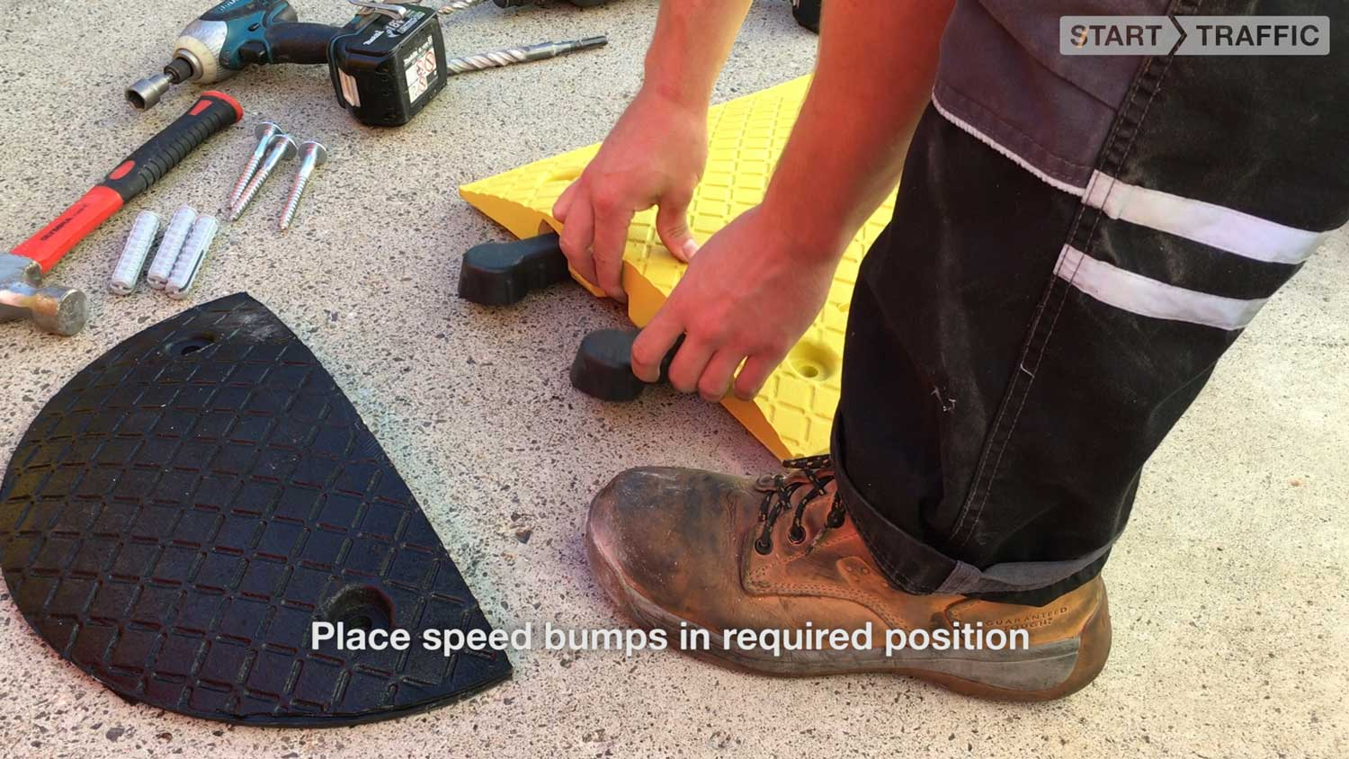 place speed bumps in required position